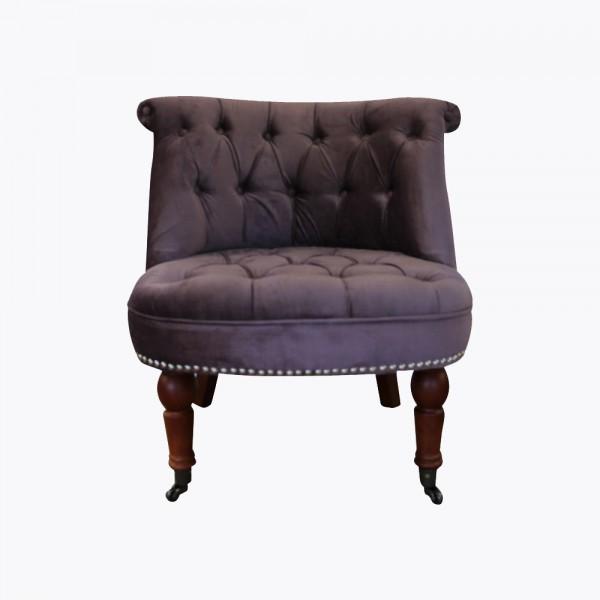 snow leopard print boudoir chair. Black Bedroom Furniture Sets. Home Design Ideas