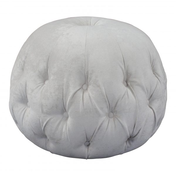 beige buttoned footstool footrest pouffe pod