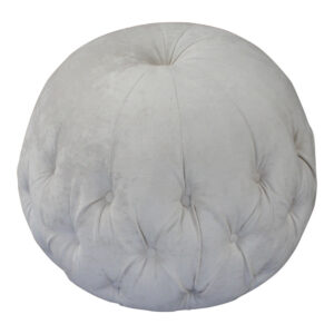 beige buttoned footstool footrest pouffe pod stool