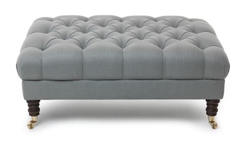 medium footstool silver suede 2