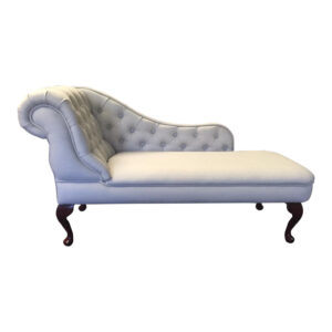 almond faux wool chaise