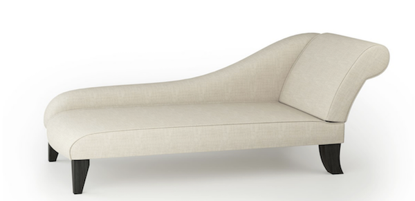 Modern Large Chaise Longue In Almond Linen
