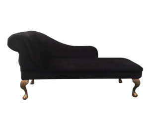 black chenille chaise