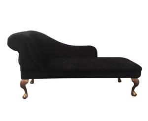 black chenille chaise