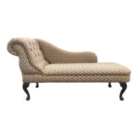 tapestry fabric chaise longue