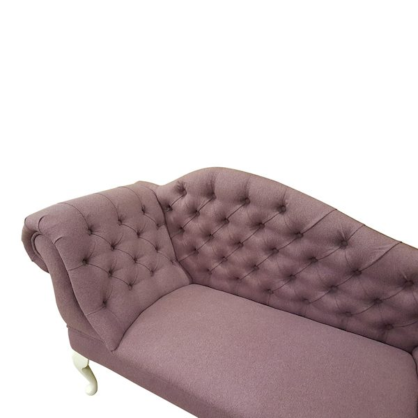 6477 Heather faux wool detail.chaise longue