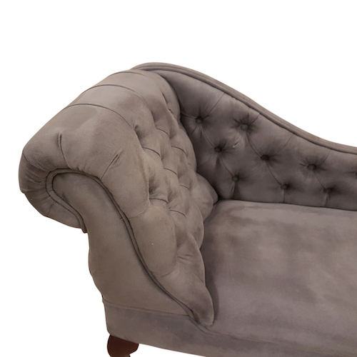 charcoal faux suede detail. chaise longue jpg