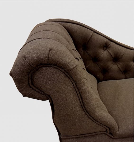 cocoa faux wool detail. chaise longue jpg