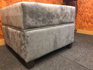 luxurious deep padded footstool 1 2