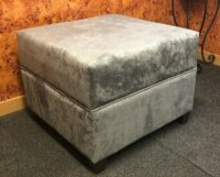 luxurious deep padded footstool