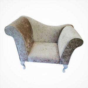 beige crushed velvet chaise logue chair1