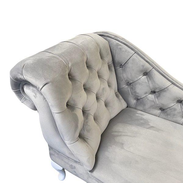 buttoned chaise longue quartt 802 grey