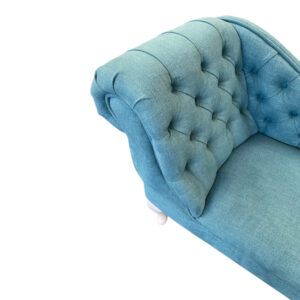 buttoned chaise longue teal linnet 2